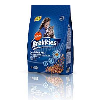 Brekkies Affinity Comida seca para gato con carne y pescado para el control de bolas de pelo 3 kilos