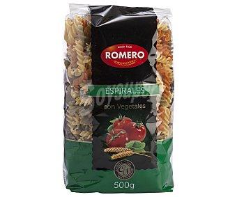 Romero Espirales, pasta de sémola de trigo duro de calidad superior a las espinacas y tomates 500 Gramos