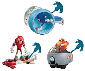 Sonic Surtido Sonic Deluxe de figuras de acción, incluye figura, vehículo y lanzador 1 unidad
