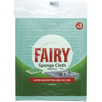 Fairy Bayeta esponja para cocina Pack 3 unid