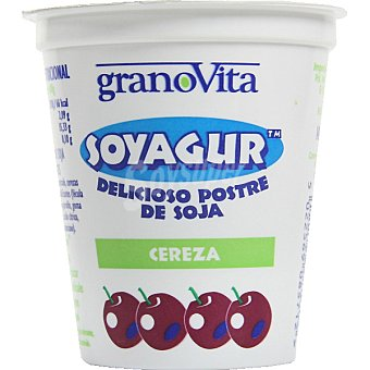 GRANOVITA Soyagur Yogur de soja sabor cerezas Tarrina 145 g