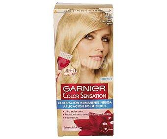 Color Sensation Garnier Tinte rubio extra claro nº 110 coloración permanente intensa caja 1 unidad pincel gratis Caja 1 unidad