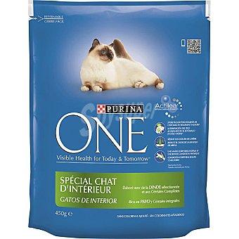 One Purina Alimento de pavo-arroz gato sensible Paquete 450 g