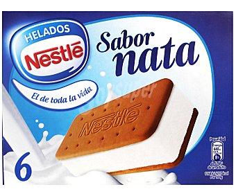 La Lechera Nestlé Sándwich de galleta con helado de nata 6 unidades