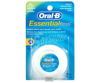Oral-B Seda Dental Essencial Floss cera/menta 50 metros.