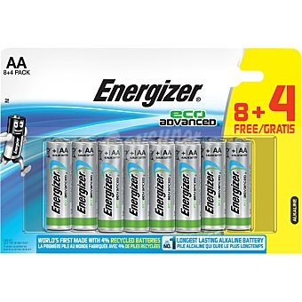 Energizer Eco Advanced pila alcalina AA blister 8 unidades + 4 gratis Blister 8 unidades + 4 gratis