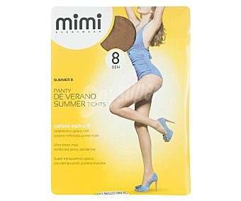 MIMI summer Panty 8 den super transparente de verano, color scala, talla M