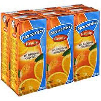 Ready Nectar naranja sin azucar añadido Pack 6x200 ml