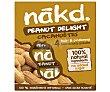 Barritas de dátiles con cacahuete, 100% ingredientes naturales y sin azúcares añadidos 4 uds. 140 g nakd