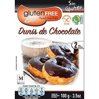 Glutenfree dunis de chocolate sin gluten 2 unidades Envase 100 g