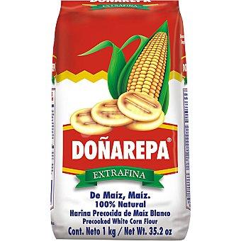 DOÑAREPA Harina de maíz blanca precocida Paquete 1000 g