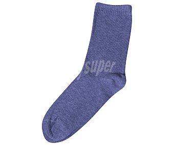 In Extenso Pack de 3 pares de calcetines antipresión para niña, color gris/azul/rosa, talla 4/5 Pack de 3