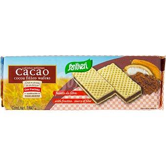 SANTIVERI galletas rellenas de chocolate sin azúcar paquete 160 g