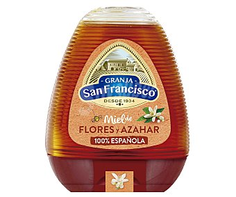 Granja San Francisco Miel de azahar y flores 350 gramos