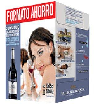 """Berberana Vino tinto de la Tierra de Castilla """"Carta de Plata"""" pack de 6x75 cl"""