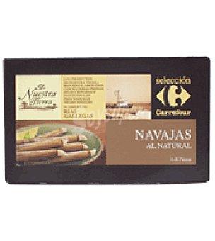 Carrefour Selección Navajas al natural 6/8 piezas 111 g