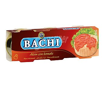 Bachi Atún con tomate Lata de 52 g. pack de 3