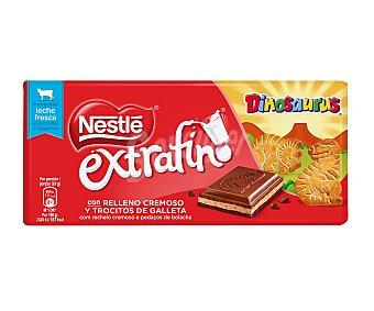 Nestlé Chocolate con relleno cremoso y trocitos de galletas Dinosaurus extrafino Nestlé 120 g