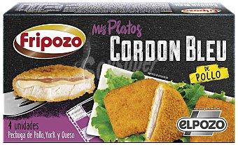 Fripozo Cordon bleu de pechuga de pollo, jamón york y queso  Envase 360 g