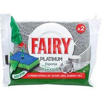 Fairy Platinum Esponja Pack 2 unid