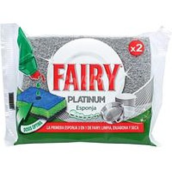 FAIRY Platinun Esponja Pack 2 unid