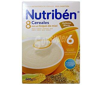 Nutribén Nutribén Papilla 8 Cereales y Miel Galletas María 600 g