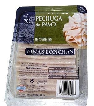 Hacendado Fiambre pechuga pavo lonchas finas Paquete de 200 g