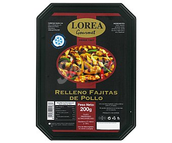 LOREA GOURMET Rell. Fajita Pollo 200g