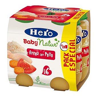 Hero Baby Tarrito de arroz con pollo Natur Pack 4x235 g