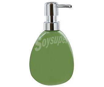 WENKO Dosificador de jabón gel, modelo Polaris, fabricado en cerámica, color verde 1 Unidad