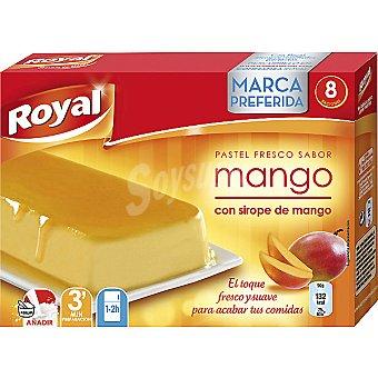 Royal Pastel fresco para preparar sabor mango con sirope de mango 8 raciones Paquete 105 g