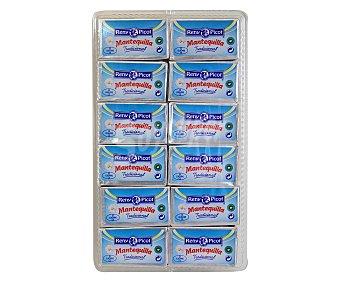 Reny Picot Mantequilla sin sal microtarrina, 12 Unidades de 10,42 Gramos