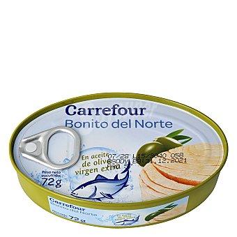 Carrefour Bonito del norte en aceite de oliva virgen 72 g