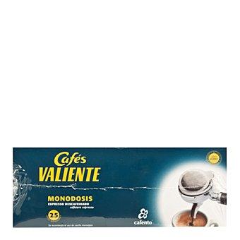 CAFÉS VALIENTE Café descafeinado 25 monodosis 25 ud