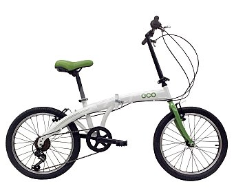 ECO Bicicleta plegable de 20 pulgadas, con cuadro de acero y 6 velocidades 1 unidad