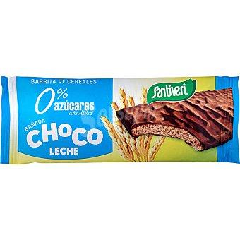 Santiveri Barrita de cereales bañada en chocolate con leche 0% azúcares añadidos envase 17 g envase 17 g