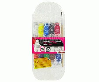Auchan Caja con 10 tubos de témpera de 10 mililitros de diferentes colores y 1 pincel del número 8 auchan 10u