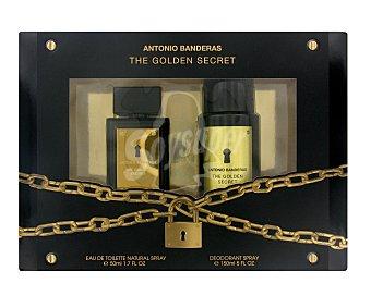 Antonio Banderas Lote hombre golden secret eau de toilette 50 ml + desodorante 150 ml *navidad* u