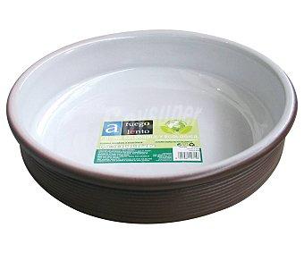 A fuego lento Cazuela redonda cerámica de 15cm. de diámetro, LENTO.