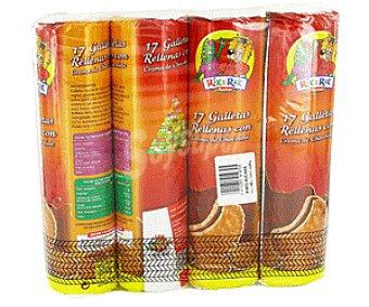 Rik&Rok Auchan Galletas Rellenas de Crema de Chocolate 4x250g
