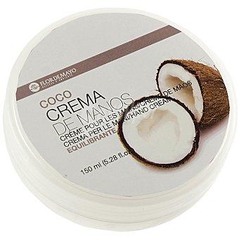 FLOR DE MAYO crema de manos Coco equilibrante tarro 150 ml