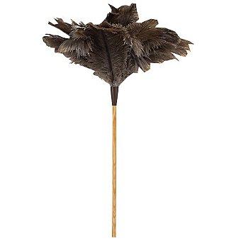 Mirko Plumero de avestruz con varilla de madera 40 cm 1 unidad