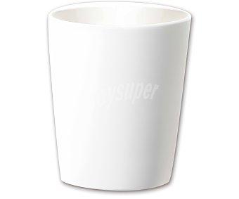 FANSA Maceta cerámica, lisa y de color blanco 1 unidad