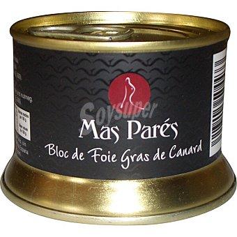 Mas pares Bloc de foie gras de pato lata 130 g lata 130 g