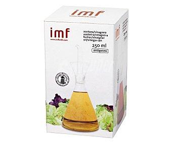 IMF Aceitera o vinagrera fabricada en vídrio con sistema antigoteo, 250 mililitros de capacidad 1 unidad