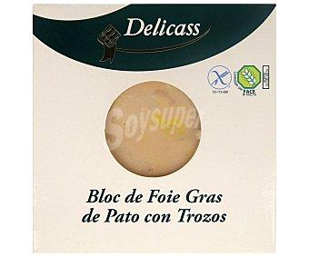 Delicass Bloc de foie gras de pato con trozos Envase 40 g