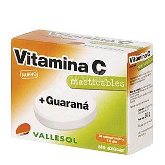 Vallesol Vitamina C + Guaraná sin azúcar 24 comprimidos