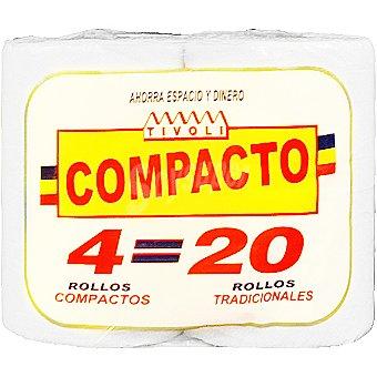 Tivoli Papel higienico compacto Paquete 4 rollos
