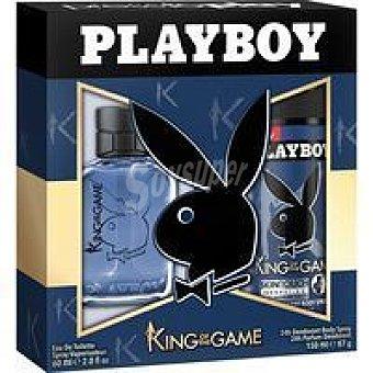 Playboy Fragrances Colonia para hombre-desodorante Man King Pack 1 unid