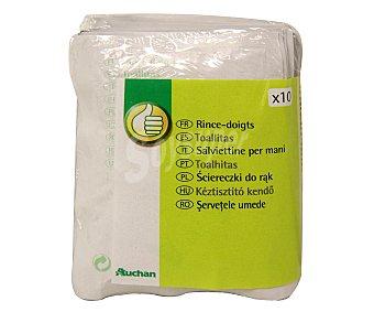 Productos Económicos Alcampo Pack de 10 toallitas 1 Unidad